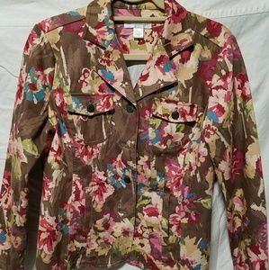 Christopher and banks floral jacket blazer NWOT